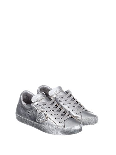Philippe Model Women's CGLDML22 Silver Leather Sneakers by Philippe Model