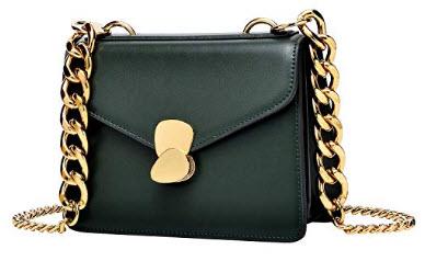 Pifuren Ladies Designer Purses Cross Body Handbags for Women Shoulder Bags, dark green