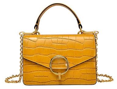PIJUSHI Cross-Body Shoulder Bag For Women Designer Leather Tote Bag, yellow
