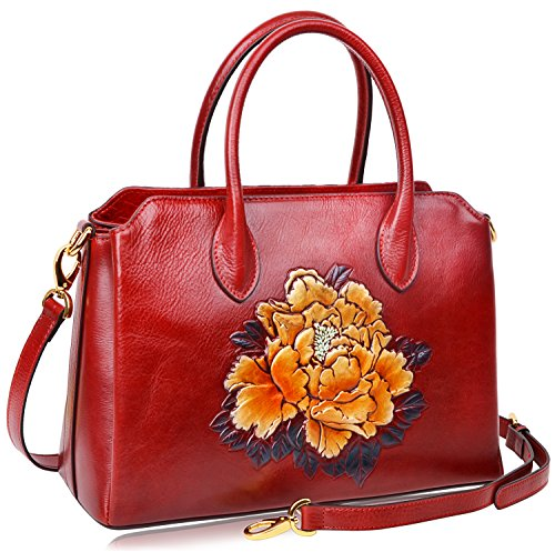PIJUSHI Women Top Handle Satchel Handbags Shoulder Bags Floral Tote Purse