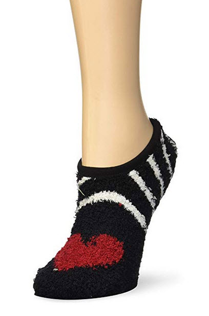 PJ Salvage Womens Cozy Warm Lounge Sleep Socks black