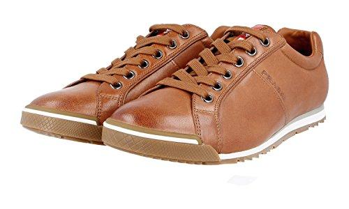 Prada Men's 4E2719 ON5 F0054 Leather Sneaker