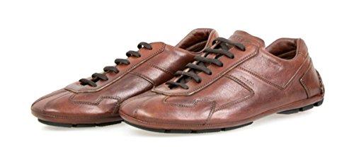 Prada Men's 4E2781 8QW F0003 Leather Sneaker
