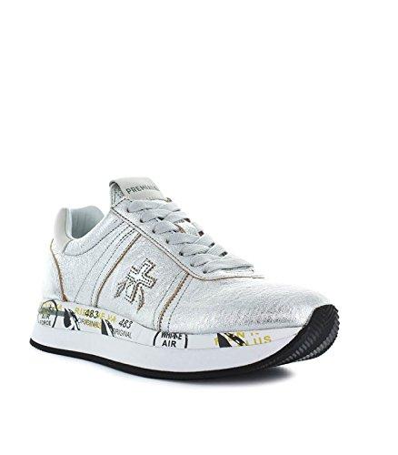 Premiata Women's Shoes Conny 2981 Silver Sneaker