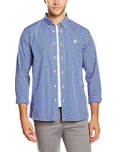Pretty Green Men's Ebsworth Gingham Long Sleeve Regular Fit Casual Shirt