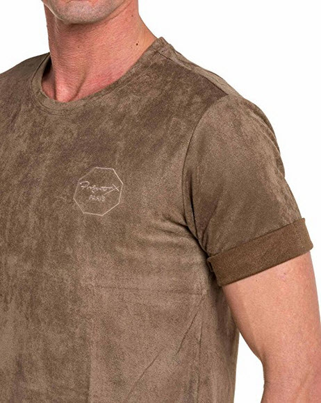 Project X – Shirt beige suede man indeed .