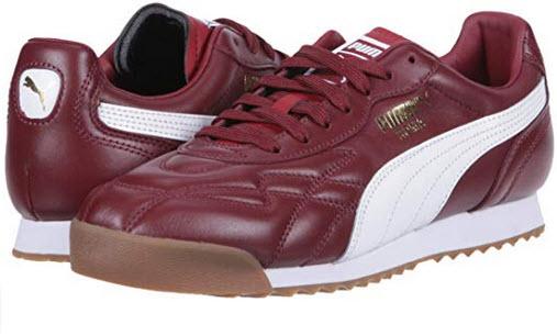 PUMA Men's Roma Anniversario Sneaker Pomegranate-puma White