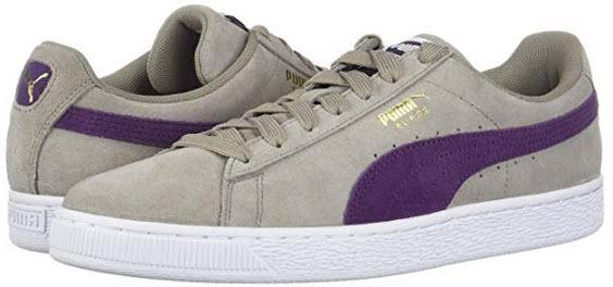 PUMA Men's Suede Classic Sneaker elephant skin / shadow purple