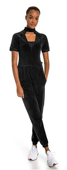 PUMA x Selena Gomez Womens Jumpsuit Pants black
