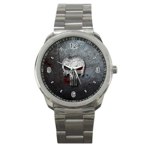 Punisher logo Marvel Sport Metal watch Limited Edition by The A-Watch Shop