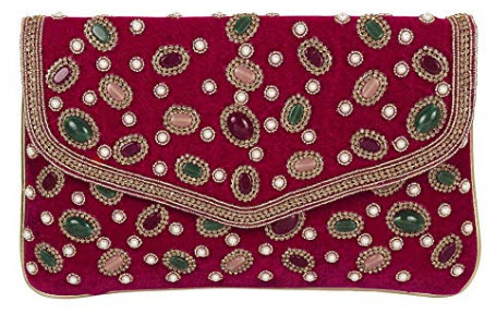 Purse Collection Pink Colour Beautiful Handmade Work Purses For Women