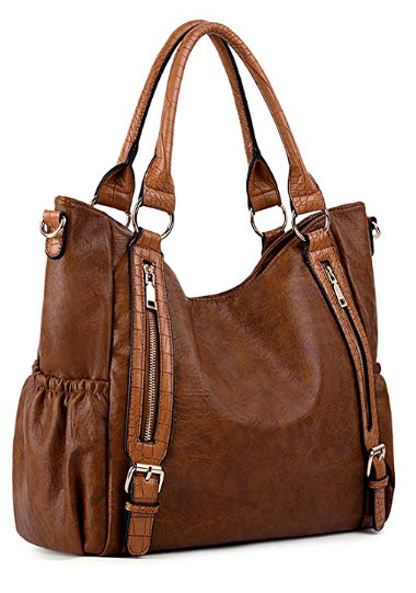 Purses and Handbags for Women UTO PU Leather Large Shoulder Tote Bag with Strap