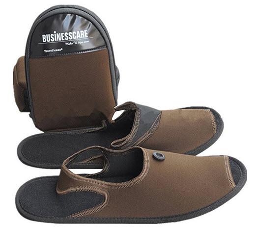 QINGYUAN Unisex Portable travel slippers Comfortable Flip Flop Sandal .