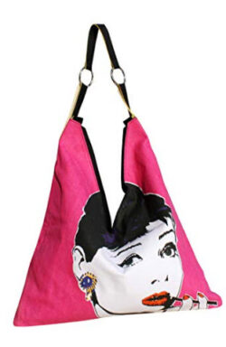 RaanPahMuang Ladies Fashion V Bag – Audrey Hepburn in Pink