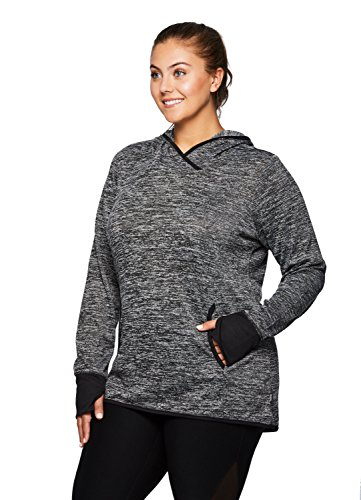 RBX Active Women's Plus Size Hoodie Tunic Sweater