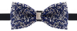 Rhinestone Bow Ties for Men – Pre Tied Sequin Bowties with Adjustable Length – jewel ...