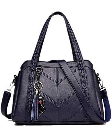Richware Women Fashion Handbag Soft PU Leather Casual Shoulder Bags Large Capacity Tote Purse fo ...