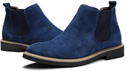 RizaBina Men Slip On Ankle Boots blue