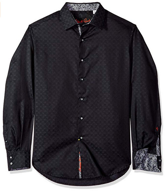 Robert Graham Men's Diamante Long Sleeve Shirt black