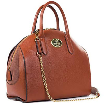Roberto Cavalli Women's Bowling Bag, cognac