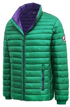 Rokka&Rolla Men's Ultra Lightweight Packable Puffer Down Jacket verdant green