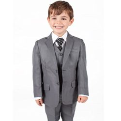 Boys Suits Boys Grey Suit 5 Piece Wedding Party Formal Outfit Pageboy (0-3M – 14Yrs)