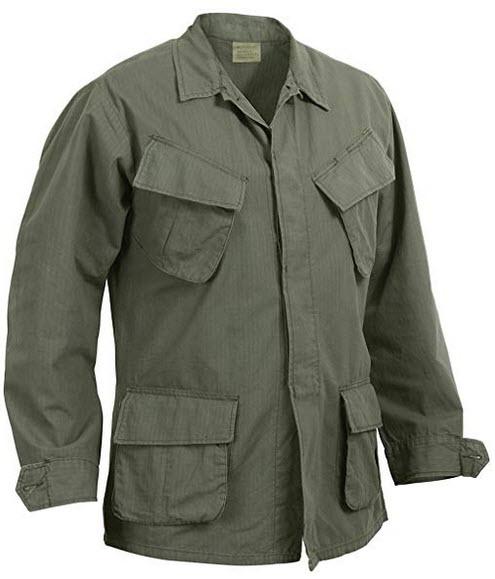 Rothco R/S Vintage Vietnam Fatigue Shirt olive drab