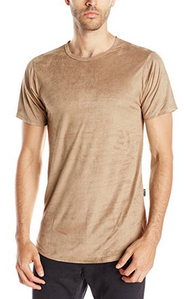 Rustic Dime Men's Suede Long T-Shirt .