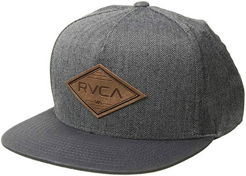 RVCA Men's Woods Snapback Hat grey