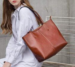 SAIERLONG Ladies Designer Womens Genuine Leather Cross Body Bags Shoulder Bag, brown