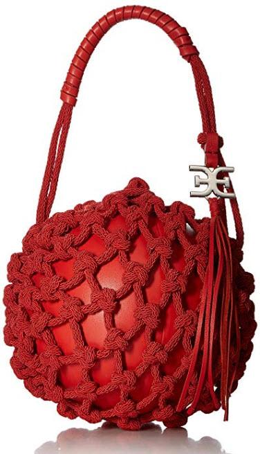 Sam Edelman Robyn Caged Ball Mini Bag, coral punch