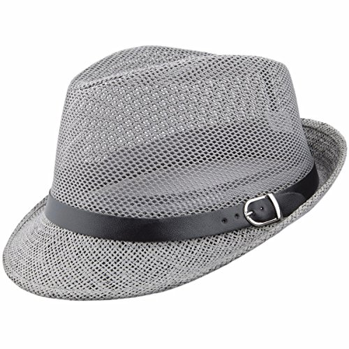 Samtree Fedora Hat, Braid Straw Short Brim Jazz Panama Cap