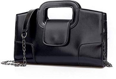 Sanxiner Leather Evening Handbag black