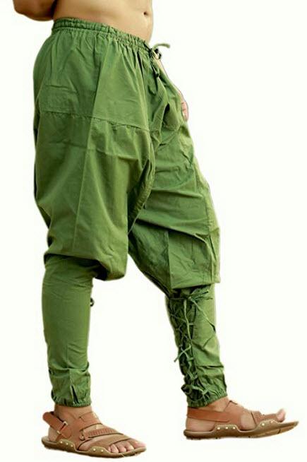 Sarjana Handicrafts Mens Womens Cotton Churidar Pockets Harem Pants Yoga Pajama Ethnic Trouser green