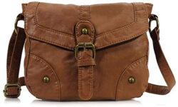 Scarleton Mini Soft Washed Casual Crossbody Bag H1874, brown