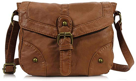 Scarleton Mini Soft Washed Casual Crossbody Bag H1874, brown