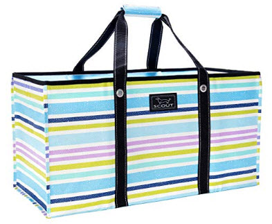SCOUT ERRAND BOY, Extra-Large Grocery Tote Bag with Max-Capacity Breakaway Zipper, bluehemian rh ...