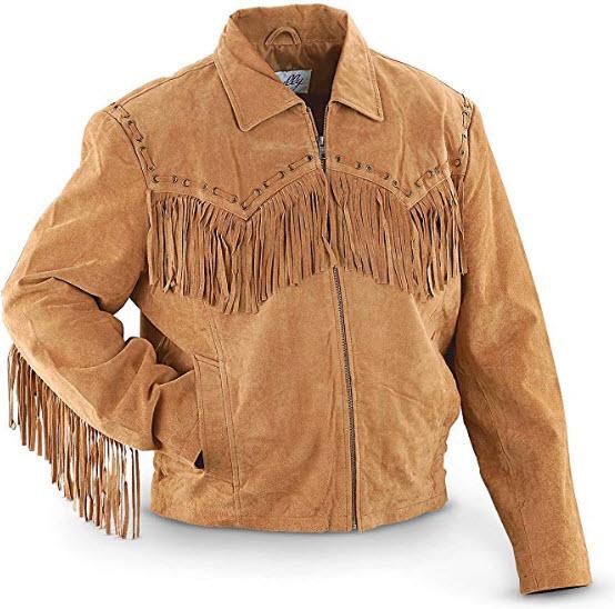 Scully Men's Boar Suede Fringe Jacket – 221-19