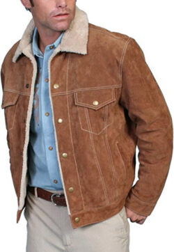 Scully Men's Sherpa Lined Boar Suede Jacket – 113-86