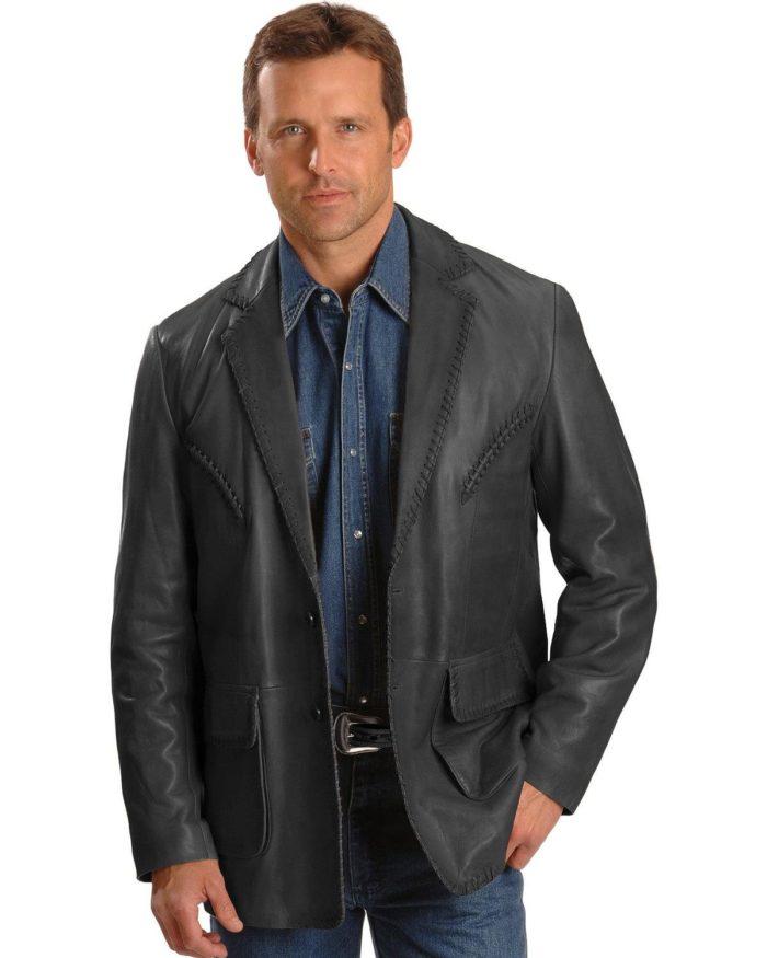 Scully Men's Whip Stitch Lambskin Blazer