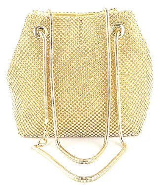 Selighting Women's Rhinestones Crystal Evening Bags Clutch Purse Crossbody Bucket Bag Prom ...