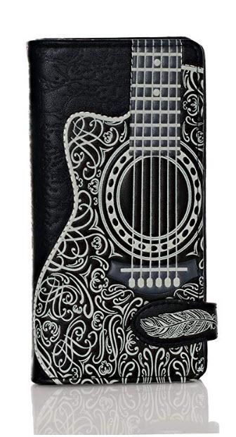 Shagwear Guitar Head Large Zipper Women's Bi-Fold Wallet