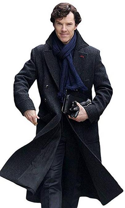 Leather Madness Sherlock Holmes Benedict Cumberbatch Wool Long Trench Coat – Sherlock Holm ...