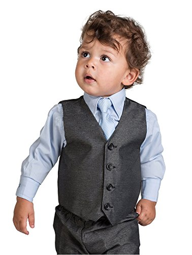 Shiny Penny Boys Charcoal & Blue Suit, Page boy Suits, 3 months – 8 years