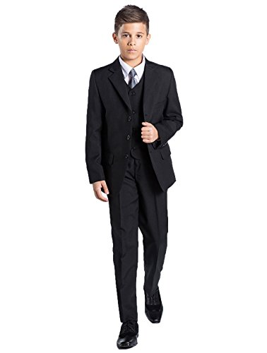 Shiny Penny, Boys formal 5 piece suit set with shirt & vest