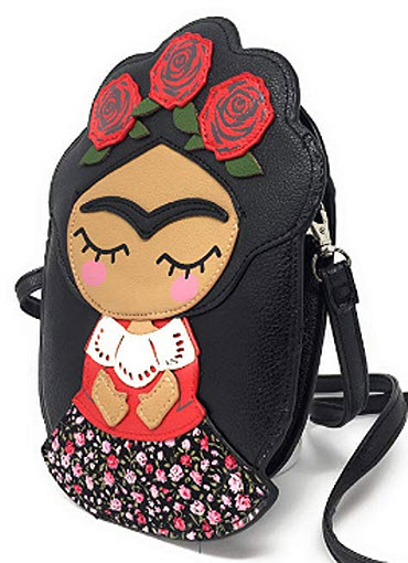 Sidecca Novelty Frida Kahlo Faux Leather Crossbody Bag