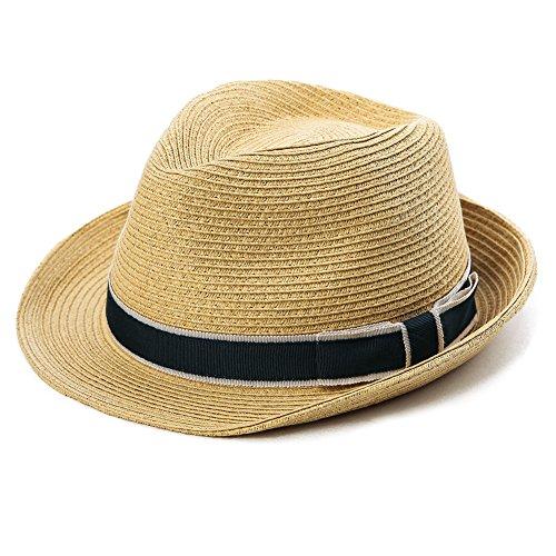SIGGI Panama Straw Summer Fedora Beach Trilby Sun Hats Short Brim For Men