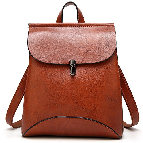 SiMYEER Womens Pu Leather Backpack Purse