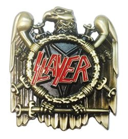 Slayer Thrash Metal Band Metal/Enamel Belt Buckle by Main Street 24/7