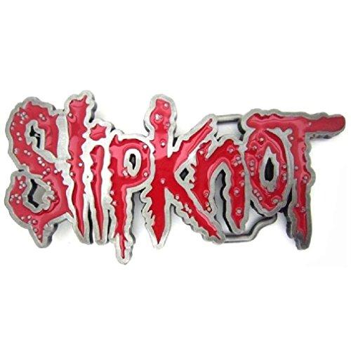 Slipknot Heavy Metal Rock Band Belt Buckle Music Collectible Red Enamel by Fancy Apparel